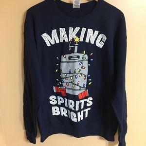 New making spirits bright men's large sweatshirt